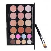 Fashion Women 20 Colors Contour Face Cream Makeup Cosmetic Concealer Palette + Powder Brush