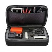 Fashion Black Medium Size Collection Handbag Inside Mesh Bag Sponge Camera Case for GoPro Hero 4