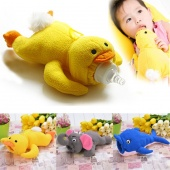 Fashion Baby Animal Plush Bottle Feeder Cute Toddler Bottle Out Warm Cover