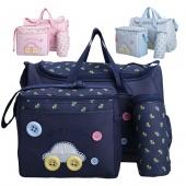 Mummy's Multifunction Cute Handbag Oxford Clothing Baby Nappy Changing Bags Shoulder Bag Sets