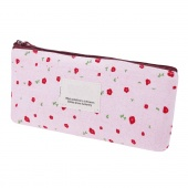 Fashion New Style Floral Pencil Pen Canvas Case Cosmetic Makeup Tool Bag Storage Pouch Purse