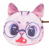 Fashion Women Sweet Wallet Cute Animal Small Coin Purse Zipper Closure Canvas Clutch Wallet