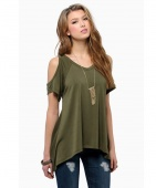 Sexy Women Casual V-Neck Off Shoulder T-Shirt Short Sleeve Solid Stretch T-Shirt Tops