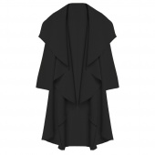 Women Long Sleeve Irregular Jacket Coat Loose Open Cape Cardigan Windbreaker
