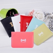 Sweet Women's Bowknot Printed Cartoon Case of Credit Card ID Bus Card Holder Card Sets