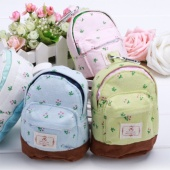 Lovely Mini Backpack Coin Card Key Purse Zip Coin Pocket with Hook