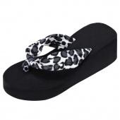 Fashion Women Summer Beach Leisure Flip Flops Summer Wedge Heel Sandals