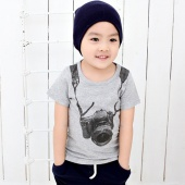 Fashion Baby Boy Kids Children's Leisure Short Sleeve Top Blouse T-shirt