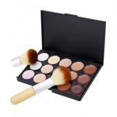 15 Colors Professional Concealer Neutral Palette Makeup Set with Brushes Set