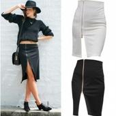 Stylish Office Lady New Fashion Summer Sexy Back Zipper Sexy Skirt