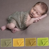 Baby Infant Stretch Knit Crochet Wrap Photo Prop Newborn Baby Solid Photography Wrap