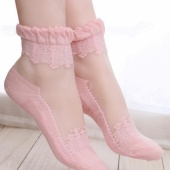 Stylish New Fashion Women Summer Lacework Lace Flower Socks