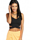 Stylish Women's Sleeveless Slim Fitting Sexy Casual Bralet Strap Crop Tanks Tops Vest