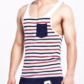 Men Stylish New Fashion Summer Leisure O-neck Sleeveless Tops Blouse Vest