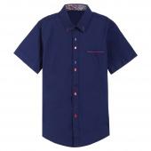 Fashion Men Lapel Short Sleeve Button Down Shirts Casual Career Shirts