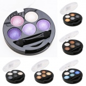 5 Colors Eye Shadow Creamy Pigment Shimmer Powder Mineral Texture Waterproof Makeup