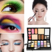 Multifunction Portable Colorful Wet Eye Shadow Eyebrow Shine Lip Gloss Blush Cosmetic Eyes Makeup Palette Kit