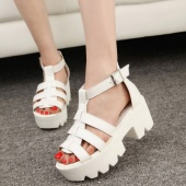 Gladiator Summer Women Chunky Platform Sandals High Heel Strap Open Toe Sandals Shoes