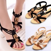 Fashion Women's Summer Casual Cross Strap Wedge Shoes Mid Heels Platform Sandals Size 38 39 40