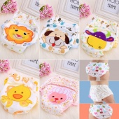 Fashion Unisex Reusable Washable Baby Nappy Changing Panties Cotton Diapers Panty