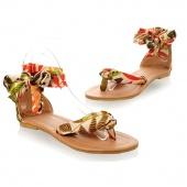 Summer Bohemia Women Ladies Flat Heels Ankle-Wrap Sandals Flip Flops Thong Slipper