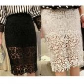 Stylish New Fashion Lady Women High Waist Elastic Waist Hollow Out Skirt