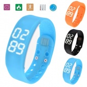 Style Fashion Unisex Smart Watch Bracelet Sleep Digital Display Time Temperature Monitoring Wristwatch