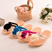Fashion Women's Summer Casual Floral Flat Shoes Flip Flops 4 Colors