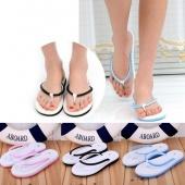 Fashion Women Casual Flat Heel Slippers Foam Sole Beach Flip Flops 3 Colors