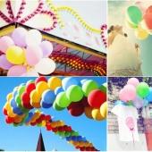 100pcs 10'' Celebration Party Wedding Birthday Anniversary Decor Decoration Multicolor Balloons