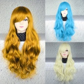 Brand New Fashion Women Lady Sexy Long Curly Wavy Synthetic Hair Full Wigs