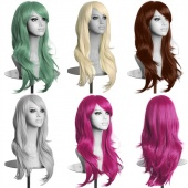 Fashion Women Sexy Big Curly Wavy Synthetic Hair Cosplay Long Wigs