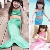 Fashion Kids Girl 2015 Summer Unique Solid Children Swimsuit 3pcs Bra Top+ Shorts And Skirt Swimwear