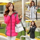 Spring And Autumn Slim Coat Women Long Down Cotton-Padded Jacket Female Wadded Jacket