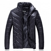 Men's Boys Autumn Winter Stand Collar Coat Cotton Padded Jacket Long Sleeve Zipper Outwear Casual Trench Parka Tops