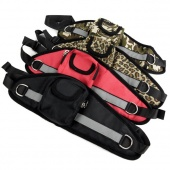 Nylon Pet Dog Puppy Harness Easy to Use Walking Lumbar Traction Belt with Purse Pulling Rope