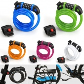 Bicycle Bike Cycling Security 5 Digit Combination Cable Lock Anti-Thief Bicycle Lock