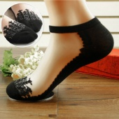 Fashion Ladies Women No Show Mesh Lace Patchwork Ankle Invisible Low Cut Boats Socks