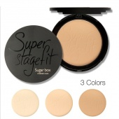 Women Cosmetic Wet And Dry Available Super Stage Fit Powder Cake with Box