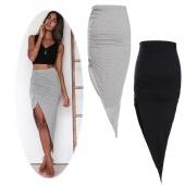 Fashion Women's Irregular Asymmetric Skirt Package Hip Skirt Beach