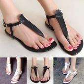 Fashion Women's Casual Flat Heel Flip Flops Peep-toe Beach Sandals Shoe