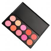 10 Colors Professional Matte Blush Face Blusher Power Palette Kit Makeup Cosmetic Set