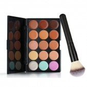 Lady Women's 15 Colors Makeup Set Facial Cosmetic Concealer Palette And Brush