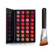 Fashion Professional 32 Color Lip Gloss Palette Cosmetic Palette Set + Brush