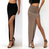 Stylish Ladies Women Casual Stylish Irregular Long Skirt