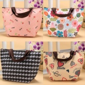 Insulated Tote Lunch Bag Box Canvas Thermal Handbag Food Drinks Holder