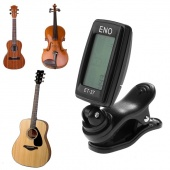 Electronic CaineCT-03B Mini Clip on Guitar Tuner Display LCD Backlight Clip Chromatic Tuner for Guitar Bass Violin Ukulele