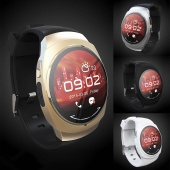 Bluetooth BT 4.0 round Smart Watch U Watch Wristwatch for Android Smartphone with Cable