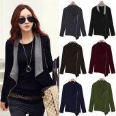 Stylish Ladies Women Zipper Winter Spring Jacket Long Sleeve Jacket Coat
