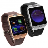 Unisex Square Bluetooth Watch Wristwatch Android Call Reminder Smart Watch Silver Gold